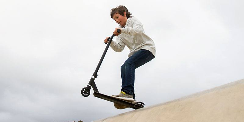 Take scooters, blading and boards to the next level at a skate park